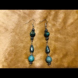 Artisan Turquoise & Silver Earrings